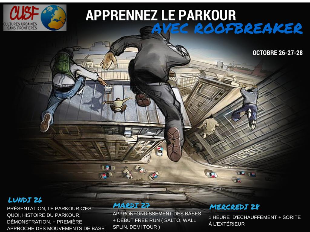 Apprennez le Parkour avec RoofBreaker pendant les vacances